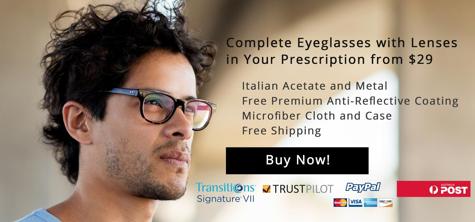 Complete Eyeglasses with Prescription Lenses from $29