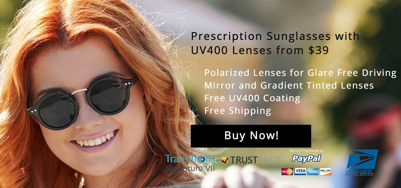 Prescription Sunglasses with UV400 Lenses from $39