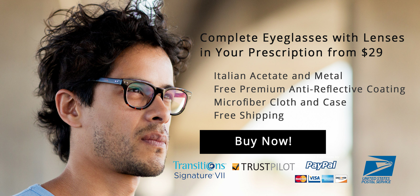 Complete Eyeglasses with Lenses in Your Prescription from $29