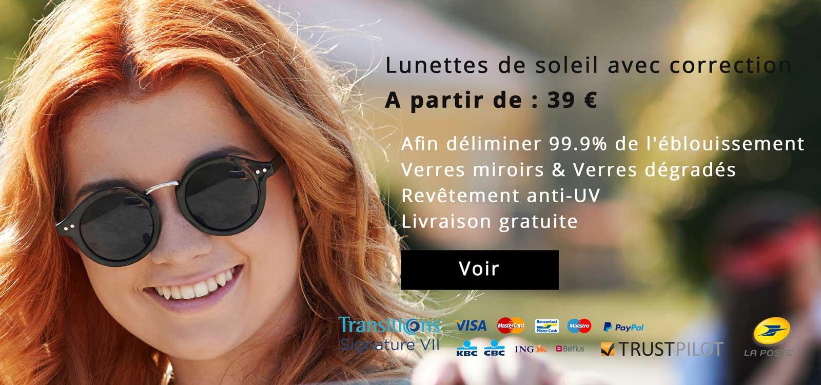 Lunettes de soleil avec correction A partir de : 39 €