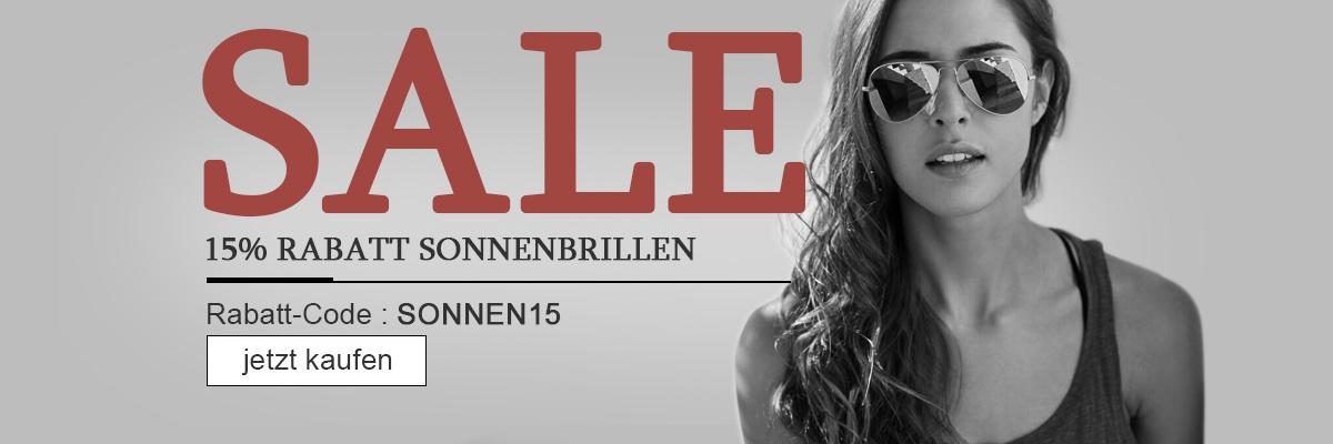15% Rabatt Sonnenbrillen, Günstige Brillen Online ab 29,00 €