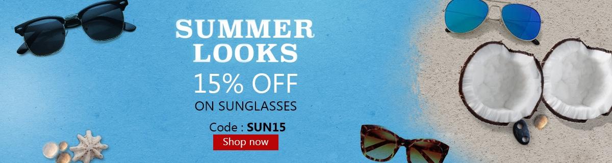 Summer Sale - 15% Discount  on Prescription Sunglasses + Free Shipping